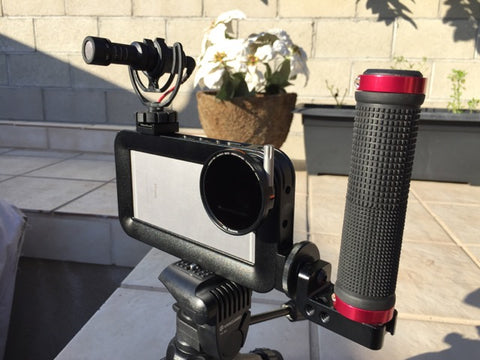 iPhone video rig Helium Core Moondog Labs anamorphic and handle