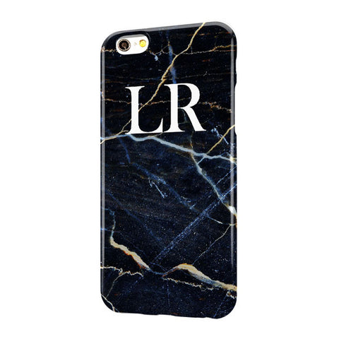Black Blue Gold Marble Large Top
