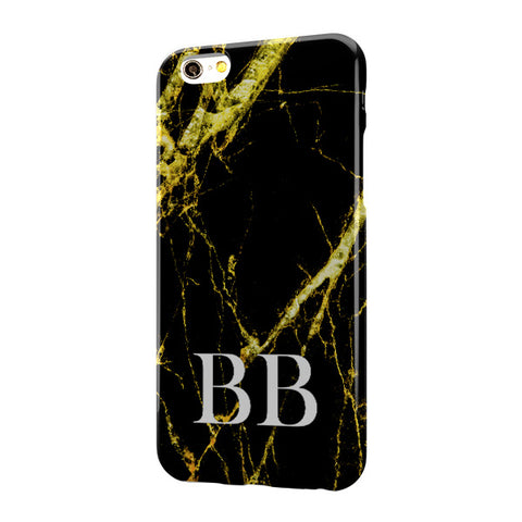 Black Gold Marble Large Bottom