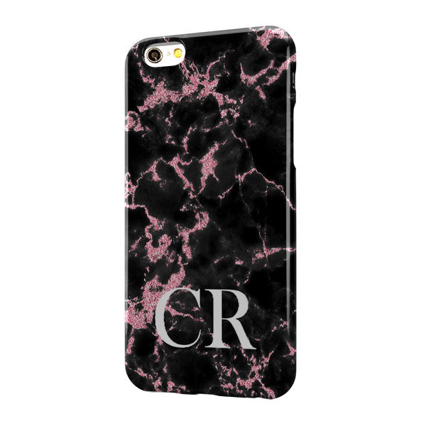 Black Pink Marble Large Bottom