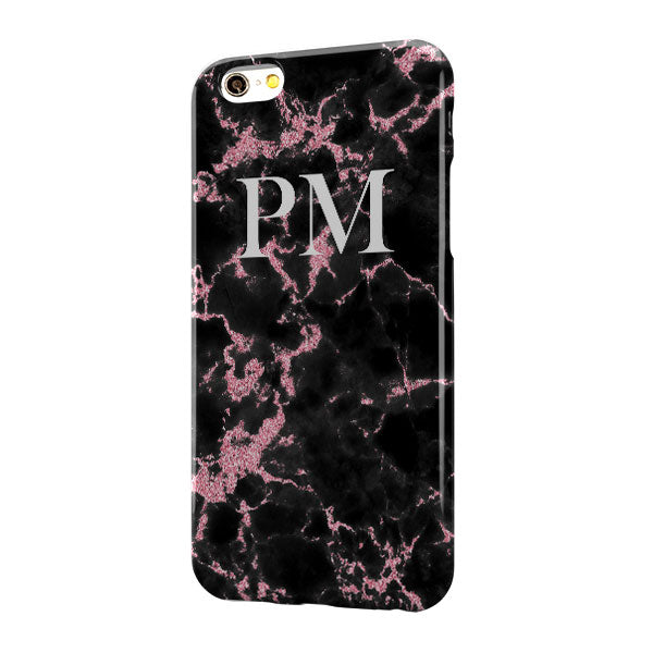 Black Pink Marble Large Top