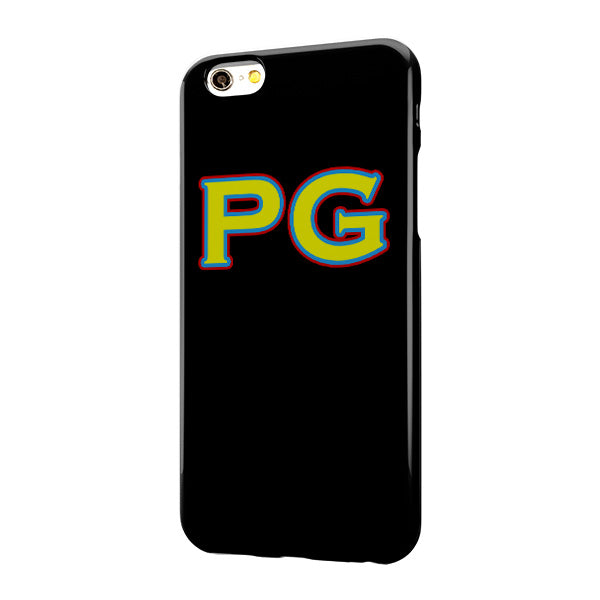 Black Case with Yellow Blue Red Top Initials