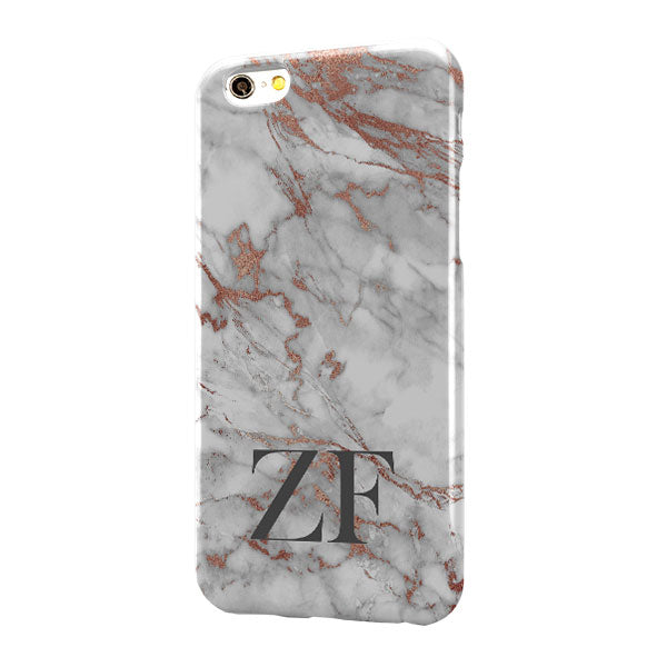 Grey Rose Gold Marble Large Bottom