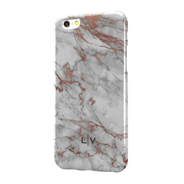 Grey Rose Gold Marble Small Bottom