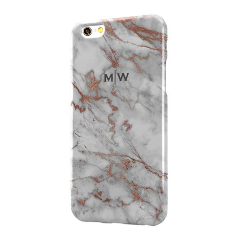 Grey Rose Gold Marble Small Top