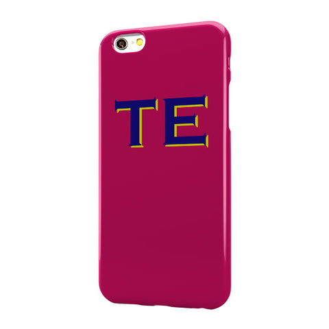 Hot Pink Case with Navy Yellow Top Initials