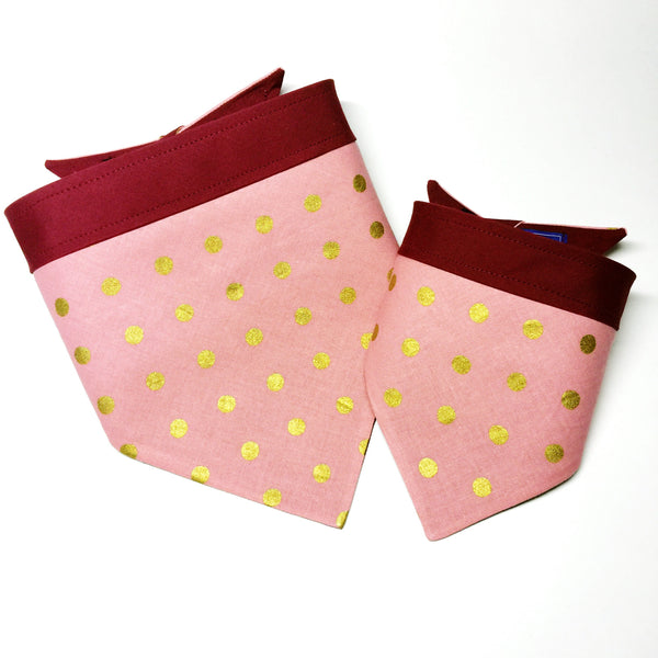 Rifle Paper Co - Pink+Gold Polka Dot Bandana