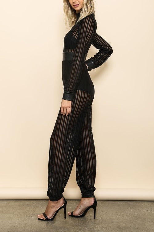 Black Genie Jumpsuit - Haute Mood