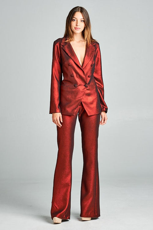 Drippin Metallic 2-Piece Suit - Haute Mood