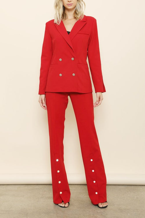 All Business Aside  2-Pc Pant Suit - Haute Mood