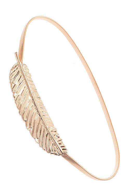Gold Feather Belt - Haute Mood