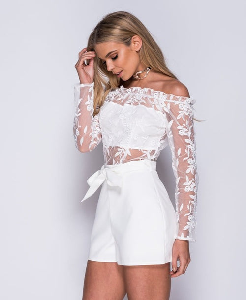 Pure Innocence White Romper - Haute Mood