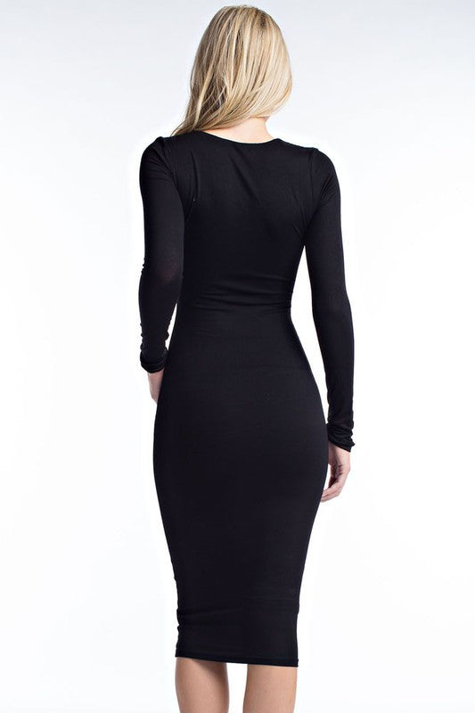 Criss Cross Bodycon Dress - Haute Mood