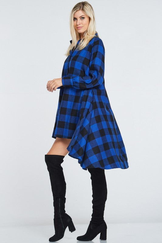 Check Me Out Shirt Dress - Haute Mood