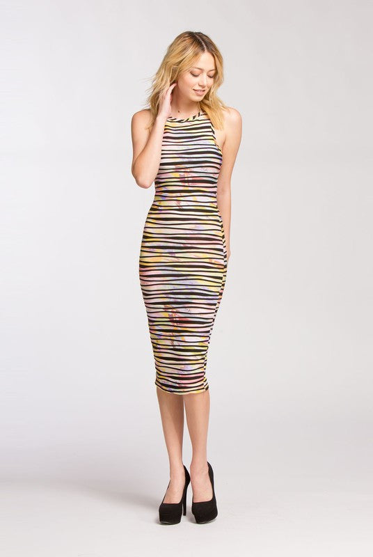 Summer Dazed Multi-Color Dress - Haute Mood