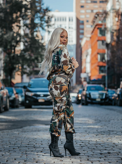Command Attention Camo Joggers Set - Haute Mood
