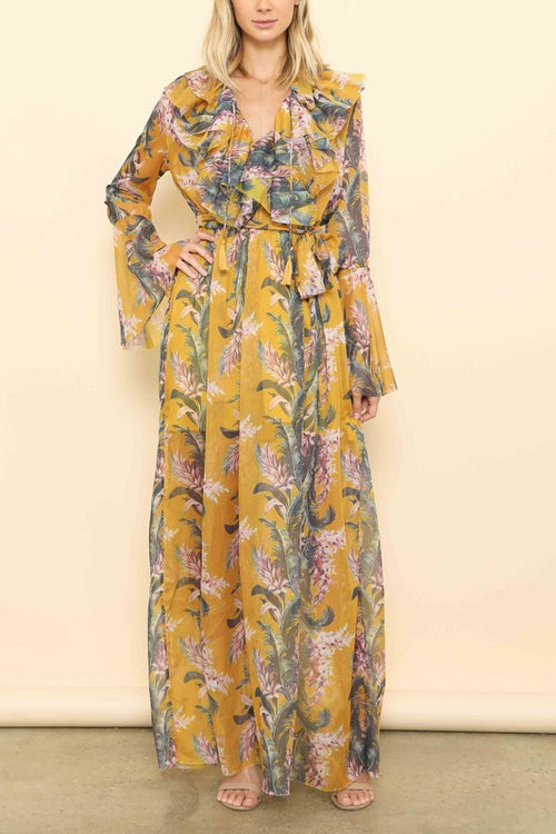 Barefoot Dancing Floral Maxi Dress - Haute Mood