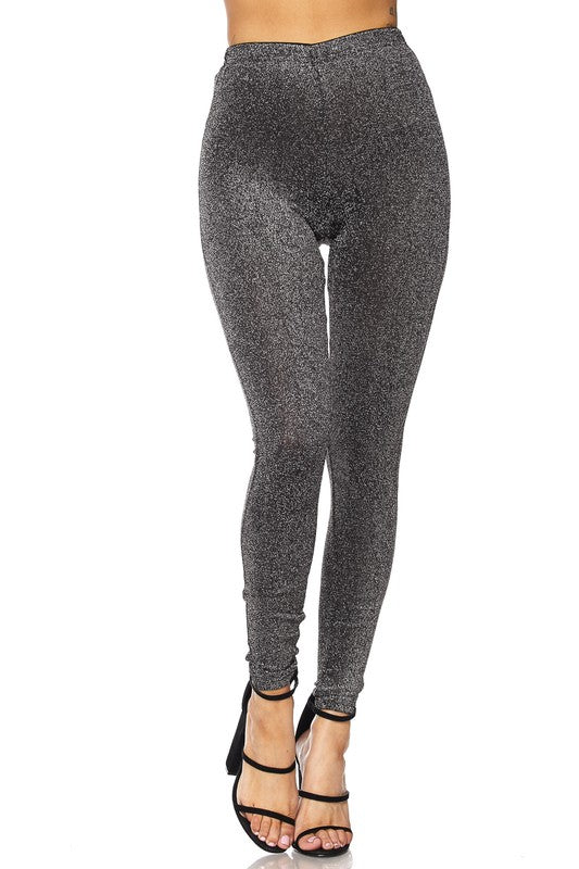 Lights On Glitter Leggings - Haute Mood