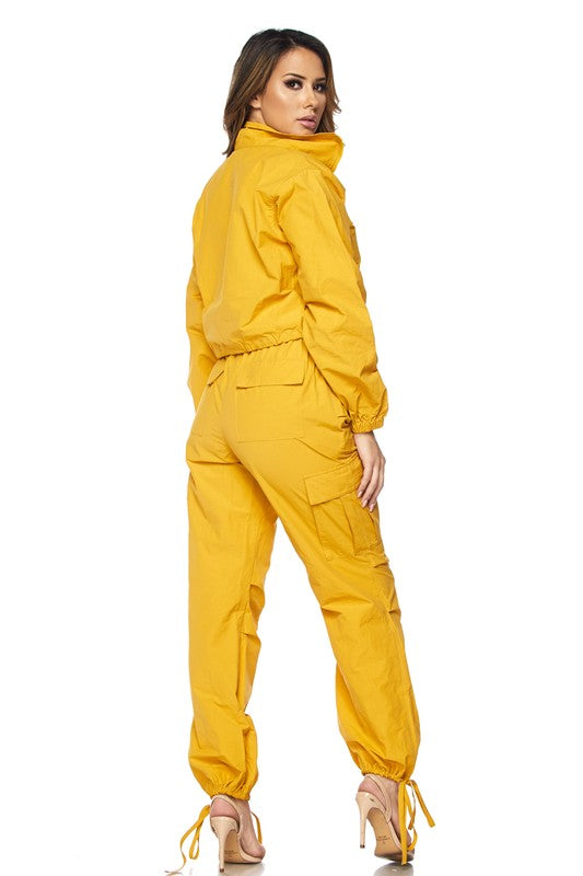 Wind Breaker Mustard Jogger Set - Haute Mood