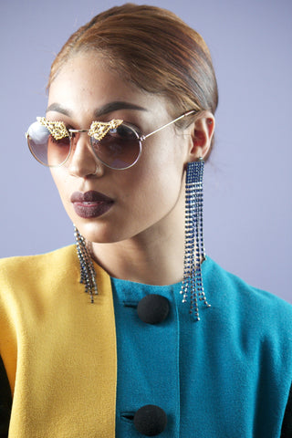 "TNEMNRODA ""So Into You IN GOLD"" Sunglasses"