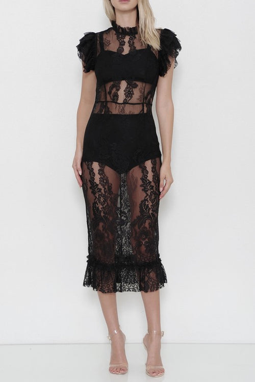 In The Heat of the Night Lace Dress - Haute Mood
