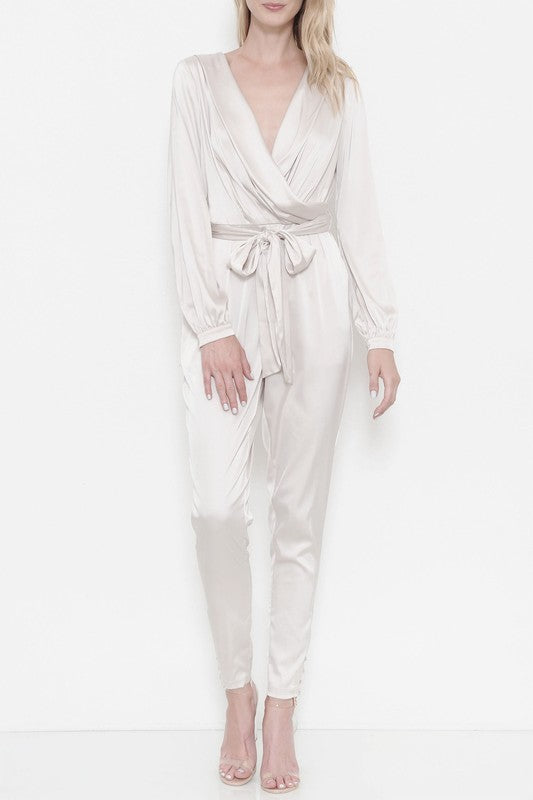Pretty In Pearl Jumpsuit - Haute Mood