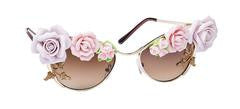 "TNEMNRODA ""Love's Floral"" Sunglasses - Haute Mood"