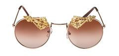 "TNEMRODA ""Gemini Gold Sunglasses"" - Haute Mood"