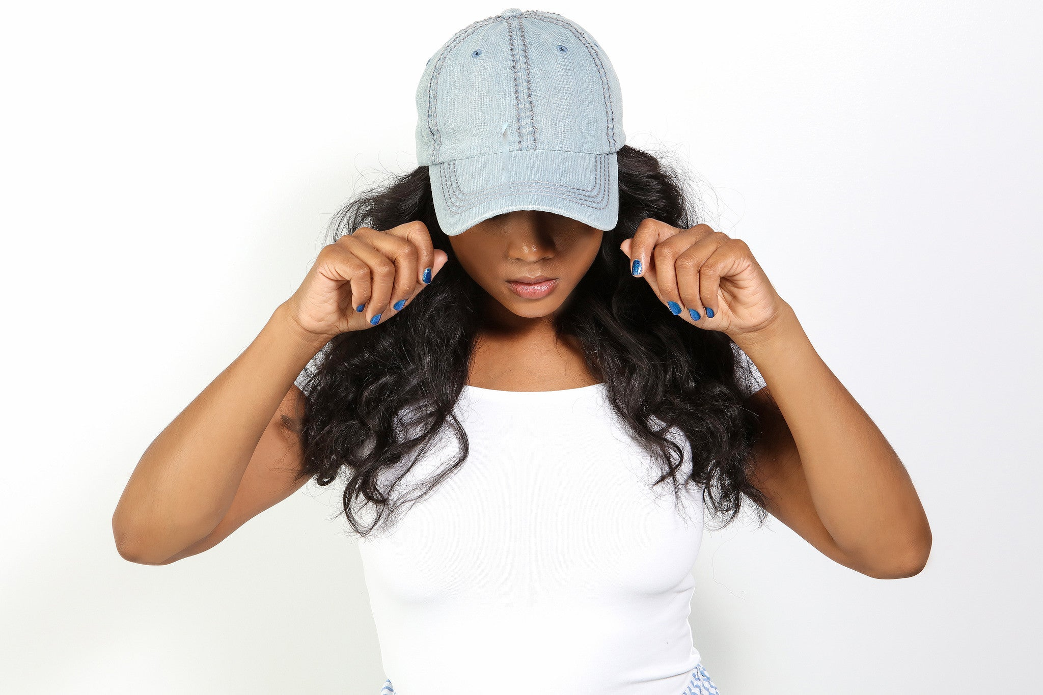 Denim Hat - Haute Mood