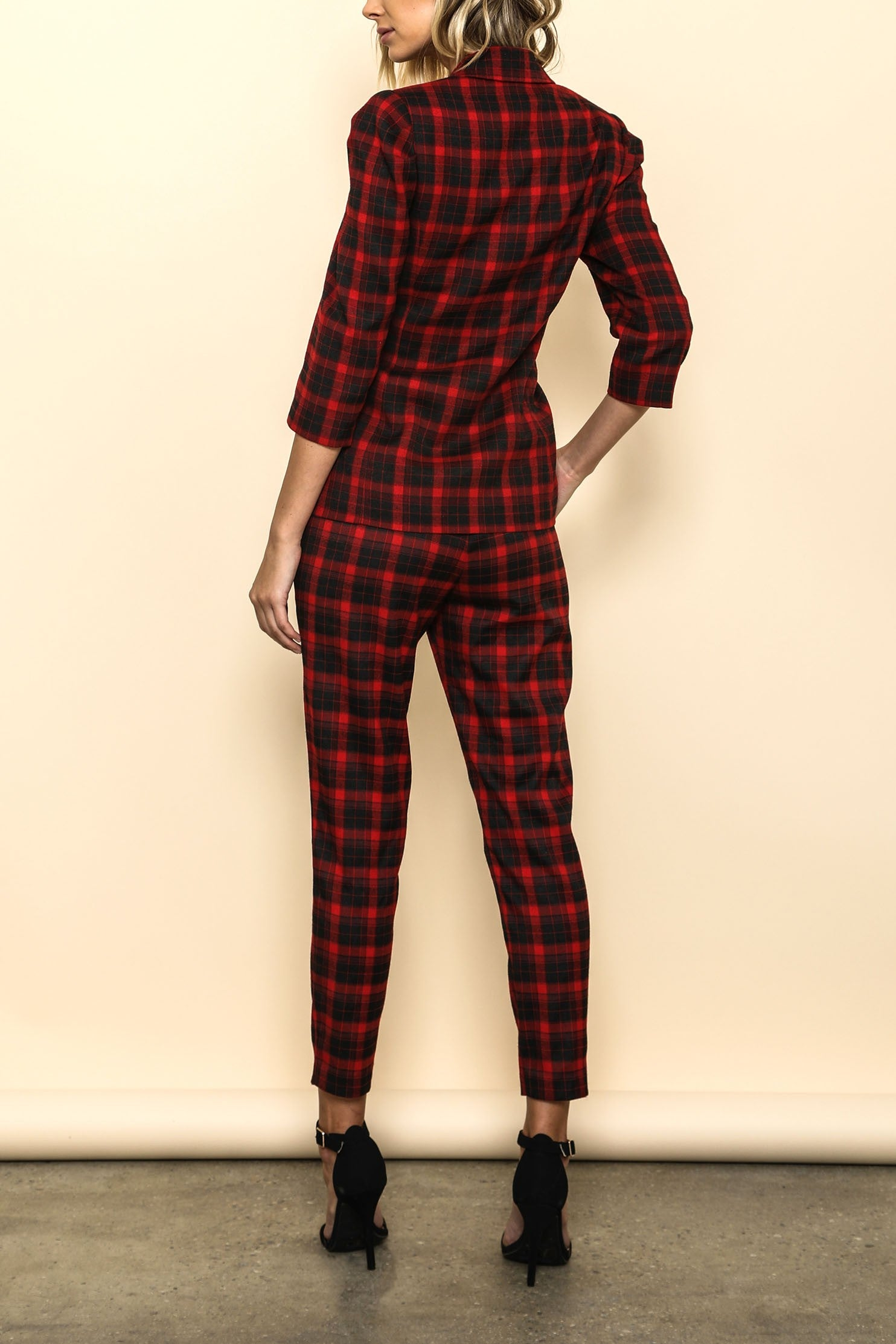 Checkmate Plaid 2-Piece Set - Haute Mood