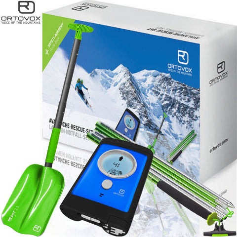 Ortovox 3+ Avalanche Rescue Set (transceiver, probe & shovel) TransceiverOrtovoxShop.OENZ -Outdoor Education New Zealand