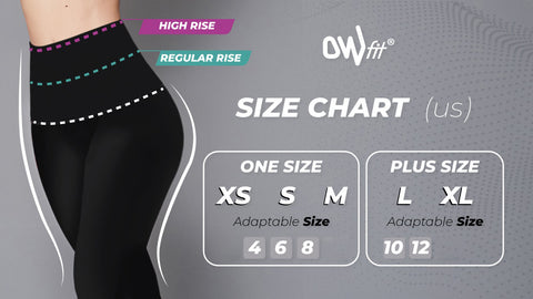 metallic one size chart