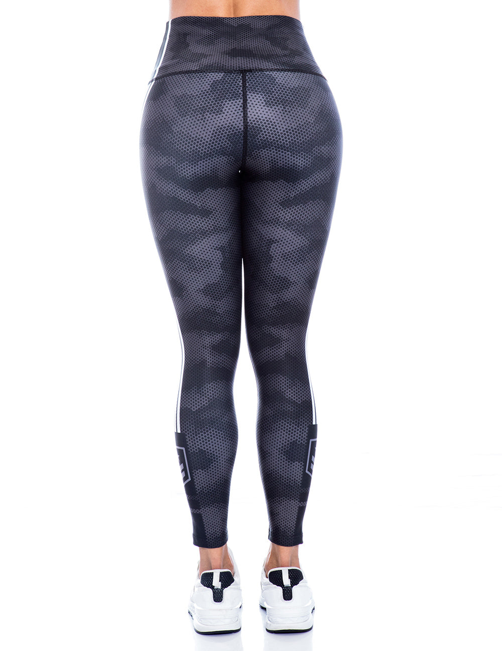 Dark Grey Armee Flag Leggings - Bestyfit