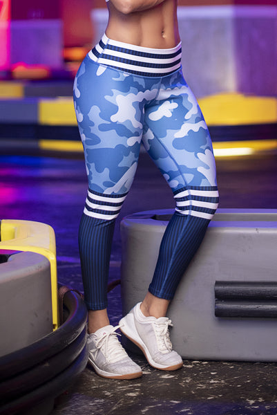 BLUE CAMO Leggings - Bestyfit