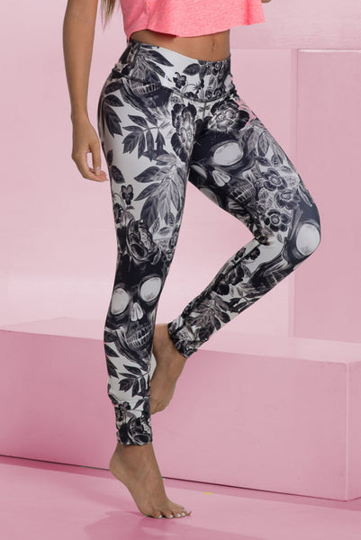 Skulls and Flowers Leggings - Bestyfit Activewear