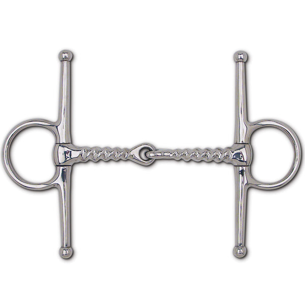 "S.S. Corkscrew Snaffle Full Cheek - 6 1/2"" Cheek"