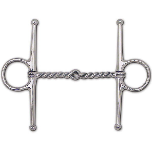 "S.S. Twisted Wire Snaffle Full Cheek - 7"" Cheek"