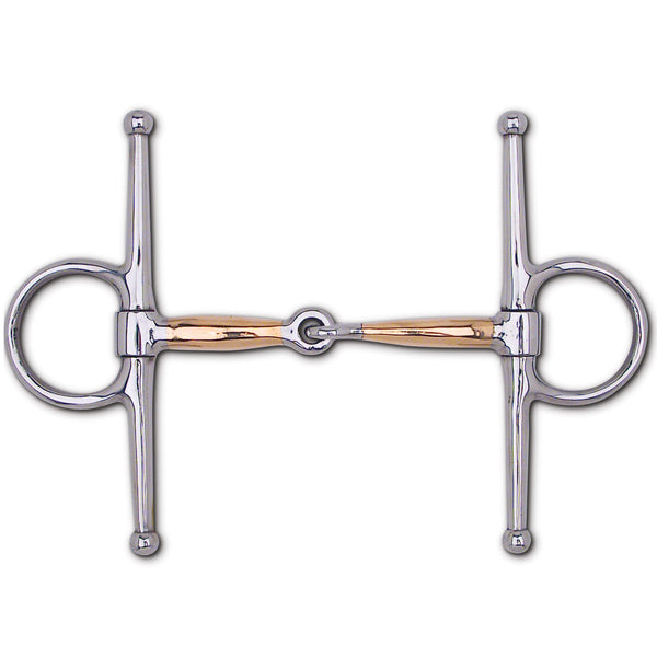 "Copper Thin Mouth Snaffle Full Cheek - 6 1/2"" Cheek"