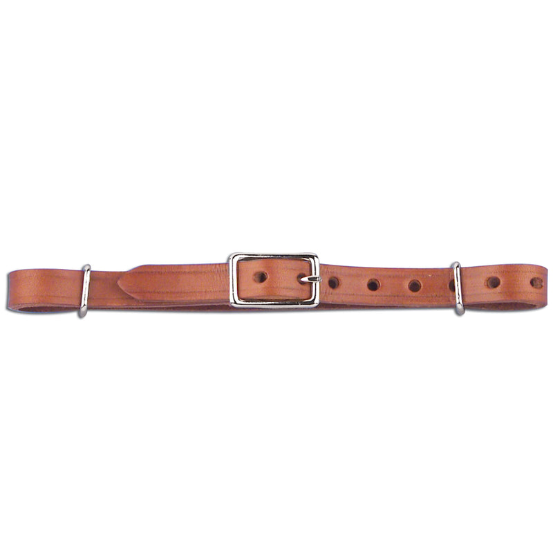 "Myler 7.5"" Adjustable Leather Curb Strap - 1/2"" Wide (Works with Combination Bits)"