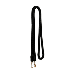 "Black 3/4"" Nylon Reins with S.S Snaps"