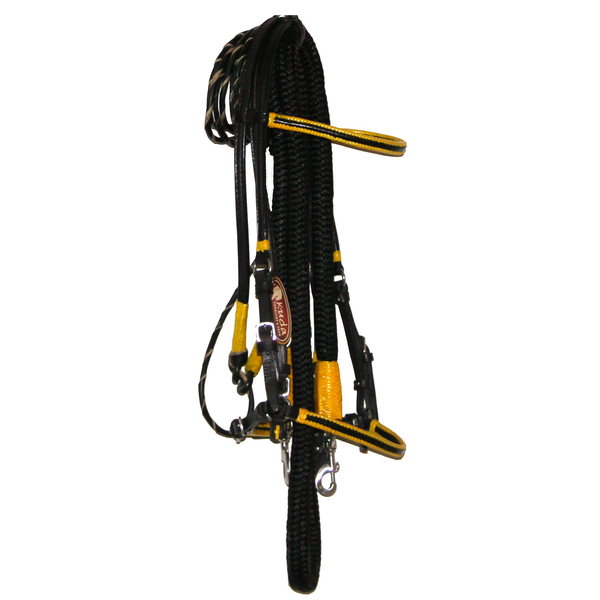 Black Bridle with Yellow accents