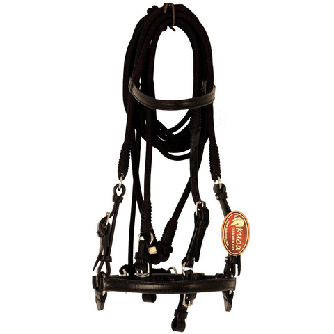 Black Leather and Nylon Training Bridle