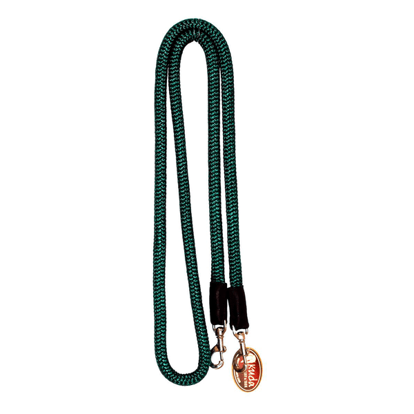 "Green  5/8"" DB nylon Reins with S.S Snaps"
