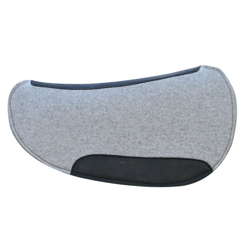 CONTOURED RELIEF 100% PRESSED WOOL FELT SADDLE PAD