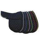 Quilted English Black Saddle Pad - 2 Colors,  Select  Piping