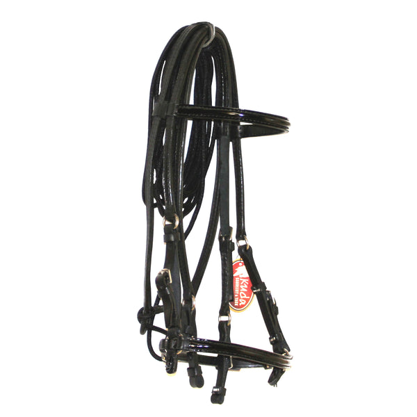 PATTERN LEATHER BLACK BRIDLE