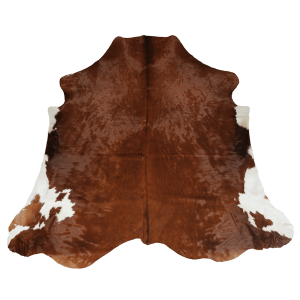 X-Large Exotic Brown with White Cowhide