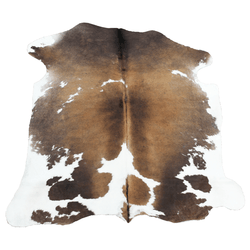 Large Brown and White Cowhide
