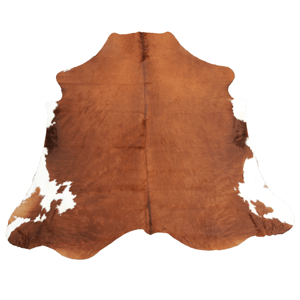 X-Large Brown and White Cowhide