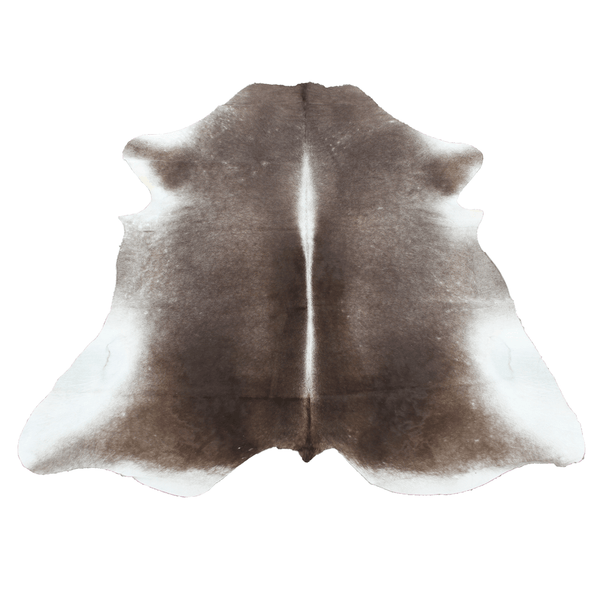 Large Gray and Brown Smokey Cowhide